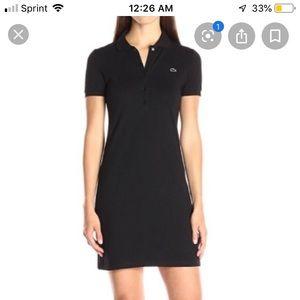 Black Lacoste Polo Dress